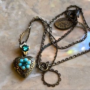 Michael Negrin Crystals Heart Locket Necklace